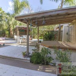 St. Augustine Rental Frogaritaville Downstairs Deck Area