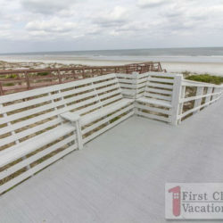 St. Augustine Rental Crescent Cove House Boardwalk Seating to Beach